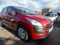 2010 PEUGEOT 3008 1.6 ACTIVE HDI GOOD SERVICE HISTORY £2295.00