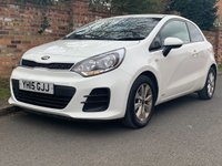 USED 2015 15 KIA RIO 1.2 SR7 3d 83 BHP 1 OWNER FULL KIA SERVICE HISTORY, £30 ROAD TAX, 1YR MOT, EXCELLENT CONDITION, ALLOYS WHEELS, AIR CON, BLUETOOTH, E/WINDOWS, R/LOCKING, FREE  WARRANTY, FINANCE AVAILABLE, HPI CLEAR, PART EXCHANGE WELCOME,