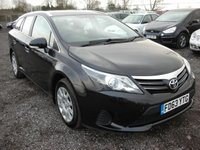 USED 2014 63 TOYOTA AVENSIS 2.0 D-4D ACTIVE 5d 124 BHP 1 Previous owner - Low tax - Economical