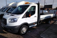 2015 FORD TRANSIT 2.2 350 C/C DRW 1d 124 BHP EXT LENGTH DROPSIDE WITH TAIL LIFT £14995.00