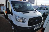 USED 2015 15 FORD TRANSIT 2.2 350 C/C DRW 1d 124 BHP EXT LENGTH DROPSIDE WITH TAIL LIFT