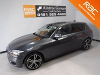 USED 2014 64 BMW 1 SERIES 1.6 116D EFFICIENTDYNAMICS 5d 114 BHP AMAZING CAR IN THE BEST COLOUR, GLEAMING GRAY WITH IMMACULATE BLACK FULL LEATHER, ONE OWNER WITH FULL BMW SERVICE HISTORY,  LEATHER CLAD STEERING MULTI FUNCTION STEERING WHEEL,PARKING SENSORS,  DAB RADIO CD WITH AUX/USB CONNECTIONS, STOP START TECHNOLOGY, SPORT/ECO BUTTON, 18INCH UPGRADED ALLOYS, ELEC WINDOWS/MIRRORS