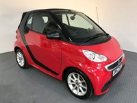 USED 2013 63 SMART FORTWO CABRIO 1.0 PASSION MHD 2d AUTO 71 BHP SERVICE HISTORY - 1 OWNER - SAT NAV - CONVERTIBLE ROOF - BLUETOOTH - AIR CON - TOUCH SCREEN