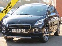 2014 PEUGEOT 3008 1.6 HDI ALLURE 5d 115 BHP £SOLD