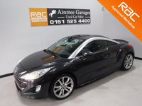 USED 2011 60 PEUGEOT RCZ 1.6 THP GT 2d 200 BHP A REAL EXAMPLE OF A STUNNING AND VERY WELL LOOKED AFTER SPORTS CAR WITH FULL SERVICE HISTORY,FINISHED IN GLEAMING BLACK WITH FULL BLACK HEATED LEATHER,   RAC APPROVED WORK SHOP, LEATHER CLAD FLAT BOTTOM STEERING WHEEL, ELEC FOLD MIRRORS, CRUSE CONTROL, DUAL CLIMATE CONTROL, USB AUX LEAD, PARKING SENSORS, BLUETOOTH PHONE PREP , THIS CAR IS IMMACULATE IN SIDE AND OUT, THE CAR HAS REMOTE ELEC SPOILER,  ELEC FOLDING MIRRORS, ELEC WINDOWS, DAB RADIO CD WITH AUX AND USB POINTS, LEATHER ARM REST, AUTO