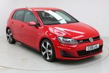 """USED 2016 16 VOLKSWAGEN GOLF 2.0 GTI 5d 218 BHP Finished in stunning Tornado Red with a Beautiful Cross Hatching Pattern on Heated Cloth Upholstery, 18"""" Alloy Wheels and Full Volkswagen Service History. Satellite Navigation, Bluetooth, Privacy Glass, Parking Sensors, DAB radio, Multi Function Red inside Stitching Steering Wheel"""
