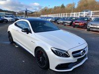 USED 2016 16 MERCEDES-BENZ C CLASS 4.0 AMG C 63 S PREMIUM 2d 503 BHP Polar White with Two Tone Platinum Pearl and black full Nappa leather, very high spec S
