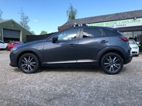 "USED 2016 66 MAZDA CX-3 1.5 D SPORT NAV 5d 104 BHP ONE OWNER, SAT NAV, 18"" ALLOYS, HALF LEATHER, HEATED SEATS, BOSE SPEAKERS, CLIMATE CONTROL, REVERS CAMERA, PARKING SENSORS, 2 MAZDA SERVICES, SPARE KEY"