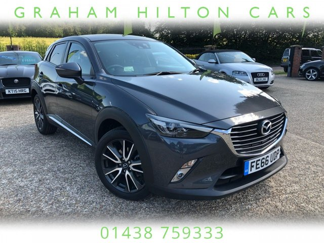 """USED 2016 66 MAZDA CX-3 1.5 D SPORT NAV 5d 104 BHP ONE OWNER, SAT NAV, 18"""" ALLOYS, HALF LEATHER, HEATED SEATS, BOSE SPEAKERS, CLIMATE CONTROL, REVERS CAMERA, PARKING SENSORS, 2 MAZDA SERVICES, SPARE KEY"""