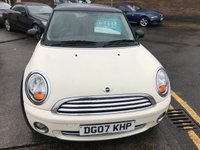 USED 2007 07 MINI HATCH COOPER 1.6 COOPER 3d 118 BHP LOW MILEAGE,1 OWNER WITH FULL SERVICE HISTORY