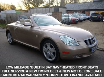 2005 LEXUS SC 430 4.3 V8 279 BHP 2 Door Convertible In Bronze With Full Cream Leather £10995.00