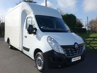 USED 2016 16 RENAULT MASTER LL35 LWB LOW LOADER LUTON WITH TAILIFT 2.3DCI 125 BHP Lwb Luton Body With Rear Roller Shutter And Tailift Very Clean Example!