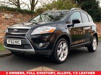 USED 2012 62 FORD KUGA 2.0 TITANIUM TDCI AWD 5d 163 BHP 2 OWNERS. FULL SERVICE HISTORY, MOT JAN 20, FULLY PREPARED, ALLOYS WHEELS, DUAL ZOME CLIMATE, CRUISE, PARKING SENSORS, PRIVACY GLASS, E/WINDOWS, R/LOCKING, FREE  WARRANTY, FINANCE AVAILABLE, HPI CLEAR, PART EXCHANGE WELCOME,
