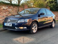 USED 2013 13 VOLKSWAGEN PASSAT 1.6 S TDI BLUEMOTION TECHNOLOGY 4d 104 BHP 2 OWNERS FULL SERVICE HISTORY, 1YR MOT, EXCELLENT CONDITION, ALLOYS WHEELS, AIR CON, BLUETOOTH, DAB RADIO, E/WINDOWS, R/LOCKING, FREE  WARRANTY, FINANCE AVAILABLE, HPI CLEAR, PART EXCHANGE WELCOME,