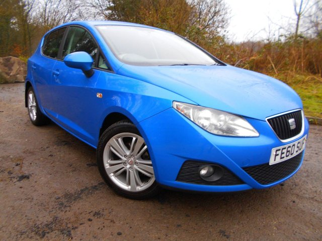 2010 60 SEAT IBIZA 1.4 GOOD STUFF 5d 85 BHP ** ONE PREVIOUS OWNER, ONLY 72K , GROUP 8 INSURANCE **