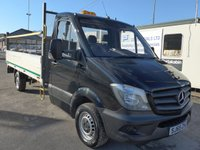 USED 2015 65 MERCEDES-BENZ SPRINTER 313 CDI LWB 14FT DROPSIDE TAILIFT, 130 BHP