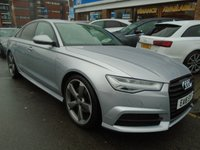 USED 2016 16 AUDI A6 2.0 TDI ULTRA S LINE BLACK EDITION 4d AUTO 188 BHP ULEZ EXEMPT 1 OWNER, SAT NAV