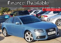 USED 2008 08 AUDI A4 2.0 TDI S LINE 4d  LOW MILEAGE+2 FORMER KEEPERS