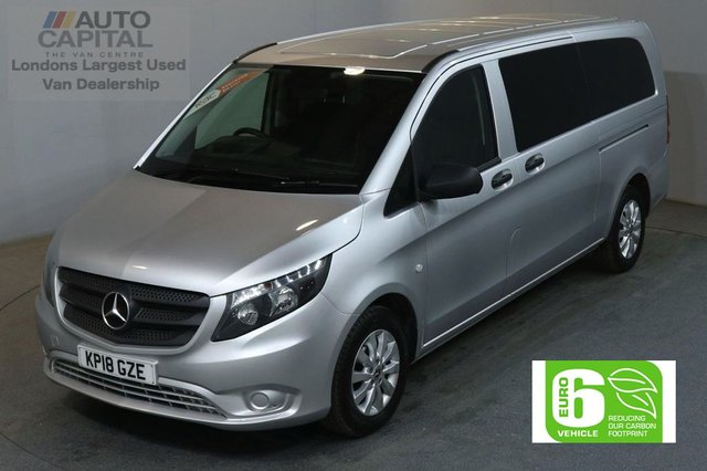 2018 18 MERCEDES-BENZ VITO 2.1 114 BLUETEC TOURER SELECT 136 BHP EXTRA LWB EURO 6 AIR CON 9 SEATER £24,490+VAT NEW 18 PLATE