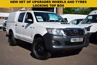 USED 2014 64 TOYOTA HI-LUX 2.5 ACTIVE 4X4 D-4D DCB 1d 142 BHP The Toyota Hi Lux is a very durable and reliable vehicle. This particular one is a 2014 2.5d ACTIVE 4x4 5 SEAT DOUBLE CAB WITH A LOCKING COLOUR CODED TOP BOX. Fabulous value at just £10999 + vat.