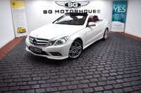 USED 2010 60 MERCEDES-BENZ E-CLASS 3.0 E350 CDI BlueEFFICIENCY Sport Cabriolet 2dr Red Leather, Heated Seats, FSH