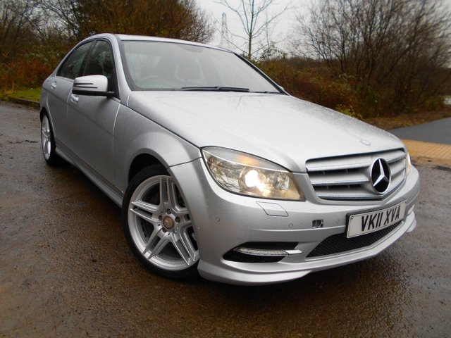 2011 11 MERCEDES-BENZ C-CLASS 3.0 C350 CDI BLUEEFFICIENCY SPORT 4d AUTO 231 BHP **FULL BLACK LEATHER, OUTSTANDING CONDITION, 7 SPEED AUTOMATIC, SATVAV, SUNROOF**