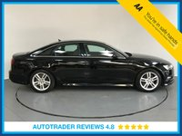 USED 2016 16 AUDI A6 SALOON 2.0 TDI ULTRA S LINE 5d AUTO 188 BHP SERVICE HISTORY - ONE OWNER - SAT NAV - LEATHER - SENSORS - BLUETOOTH - AIR CON - CRUISE CONTROL