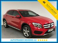 USED 2016 65 MERCEDES-BENZ GLA-CLASS 2.1 GLA 200 D AMG LINE 5d AUTO 134 BHP EURO 6 - SERVICE HISTORY - ONE OWNER - SAT NAV - HALF LEATHER - REAR CAMERA - BLUETOOTH - AIR CON