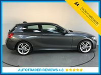 USED 2015 65 BMW 1 SERIES 1.5 118I M SPORT 3d AUTO 134 BHP FULL BMW HISTORY - ONE OWNER - SAT NAV - BLUETOOTH - AIR CON - AUX / USB - DAB RADIO