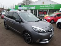 USED 2015 15 RENAULT GRAND SCENIC 1.6 DYNAMIQUE TOMTOM BOSE PLUS DCI S/S 5d 130 BHP ** 01543 877320 ** JUST ARRIVED ** FULL SERVICE HISTORY **DIESEL