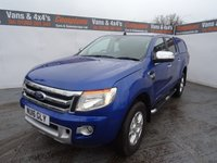USED 2016 16 FORD RANGER 3.2 LIMITED 4X4 DCB TDCI 4d 197 BHP FORD RANGER 3.2 MANUAL IN PERFORMANCE BLUE