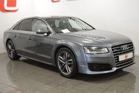 USED 2015 65 AUDI A8 4.1 TDI QUATTRO SPORT 4d AUTO 380 BHP LOW MILES + SERVICE HISTORY + NAV + LEATHER + IMMACULATE WHEELS