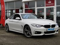 USED 2016 16 BMW 4 SERIES 2.0 420D M SPORT 2d AUTO 188 BHP STUNNING, 1 OWNER, £30 ROAD TAX, BMW 420D M SPORT, COUPE, 188 BHP. Finished in ALPINE WHITE with contrasting Full Heated BLACK LEATHER. This is a easy going four seater which is sleek bodied with great handling and levels of comfort. Features include SAT NAV, DAB, Full Heated Leather, Park Sensors, B/Tooth and much more. Stratstone Harrogate BMW serviced at 18974 miles, 36053 miles, 40504 miles and recently at 52451 miles.
