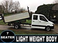 2015 MERCEDES-BENZ SPRINTER 2.1 313 CDI  CREW CAB TIPPRR 7 SEATS 129 BHP £12995.00