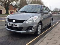 2014 SUZUKI SWIFT 1.2 SZ2 5d 94 BHP £SOLD
