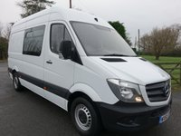 2015 MERCEDES-BENZ SPRINTER 313 MWB HIGHTOP Mess Van with Toilet & Microwave 2.1 CDI 130 BHP  £16995.00