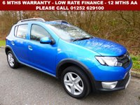 USED 2015 15 DACIA SANDERO 1.5 STEPWAY LAUREATE DCI 5d 90 BHP All retail cars sold are fully prepared and include - Oil & filter service, 6 months warranty, minimum 6 months Mot, 12 months AA breakdown cover, HPI vehicle check assuring you that your new vehicle will have no registered accident claims reported, or any outstanding finance, Government VOSA Mot mileage check. Because we are an AA approved dealer, all our vehicles come with free AA breakdown cover and a free AA history check.. Low rate finance available. Up to 3 years warranty available.