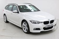 """USED 2017 66 BMW 3 SERIES 2.0 320I XDRIVE M SPORT TOURING 5d AUTO 181 BHP Finished in stunning Alpine White with Black Suede Interior, 18"""" Alloy Wheels, 1 Owner and Full BMW Service history. Sat Nav, Bluetooth, Parking Sensors, Multi Function Wheel, Stop/Start, Air Con"""