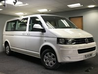 USED 2014 14 VOLKSWAGEN TRANSPORTER SHUTTLE 2.0 T30 TDI SHUTTLE SE BMT 5d AUTO 140 BHP+++AUTOMATIC+++LOW MILEAGE+++FULL SERVICE HISTORY+++