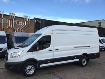 2016 FORD TRANSIT 2.2TDCI T350 L4 JUMBO LWB HIGH ROOF 125BHP. FORD WARRANTY. £9990.00