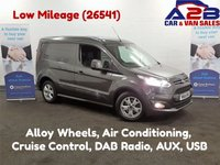 USED 2016 66 FORD TRANSIT CONNECT 1.5 TDCi 120 bhp 200 LIMITED, 3 Seats, Air Con, Bluetooth, Cruise Control, Rear Parking Sensors, Alloys, DAB Radio **Drive Away Today** Over The Phone Low Rate Finance Available, Just Call us on 01709 866668**