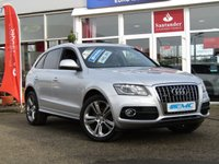 "USED 2011 11 AUDI Q5 2.0 TDI QUATTRO S LINE SPECIAL EDITION 5d AUTO 170 BHP STUNNING, SPECIAL EDITION, AUDI Q5 2.0 TDI QUATTRO, S/LINE AUTO 170 BHP. Finished in ICE SILVER MET with contrasting BLACK LEATHER / ALCANTARA trim. This handsome looking SUV is a great all rounder. It's one the most popular in the 4x4 class. Features include Upgradred 20"" alloys, Electric rear boot, Tinted Windows, Leather/alcantara, rear park sensors and LED Run Lights."
