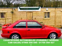 USED 1989 G FORD ESCORT 1.6 RS TURBO 3d 132 BHP Here we have a stunning example of 90 spec RS Turbo, full book pack with lots receipts, every MOT From new, just had new timing belt and water pump,with genuine parts, all brand new Goodyear Tyres, nearest available to the original NCT 50S, also just had full service with new genuine spark plugs from Ford. All brand new brakes all round. I really don't think you will find a better one anywhere ! I really love this car and really do not want it to sell ! I would like to keep and probably will !