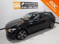 USED 2014 64 BMW 1 SERIES 2.0 120D SPORT 5d AUTO 181 BHP AMAZING CAR IN WONDERFUL GLEAMING BLACK, WITH IMMACULATE GREY INTERIOR, A LEATHER CLAD MULTI FUNCTION STEERING WHEEL, DAB RADIO CD WITH AUX/USB CONNECTIONS, STOP START TECHNOLOGY, SPORT/ECO BUTTON, 17INCH UPGRADED ALLOYS, ELEC WINDOWS/MIRRORS, AIR CON, PARKING SENSORS 1 PREVIOUS KEEPER,  4 SERVICE STAMPS
