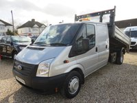 2013 FORD TRANSIT 2.2 350 LWB UTILITY CAB TIPPER WITH TAIL LIFT 155 BHP AIR CON 1 OWNER FULL HISTORY 31,500 MILES £13950.00