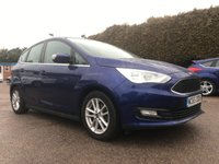2015 FORD C-MAX 1.5 TDCI ZETEC 5d IN DEEP IMPACT BLUE, ALLOYS AND AIR-CON £9000.00