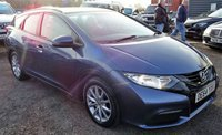 USED 2015 64 HONDA CIVIC 1.8 I-VTEC S TOURER 5d 140 BHP SERVICE HISTOERY OF 3 STAMPS 1 PREVIOUS KEEPER 2 KEYS