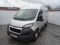 USED 2016 66 PEUGEOT BOXER 2.0 BLUE HDI 335 L3H2 PROFESSIONAL P/V 1d 130 BHP PEUGEOT BOXER L3 H2 EURO 6 PROFESSIONAL AIR CON