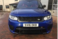 USED 2016 16 LAND ROVER RANGE ROVER SPORT 5.0 V8 SVR SUPERCHARGED AUTO