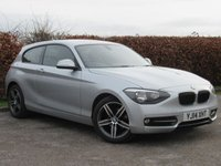 USED 2014 14 BMW 1 SERIES 2.0 118D SPORT 3d  * FULL BMW SERVICE HISTORY * BUILT IN BLUETOOTH HANDSFREE *